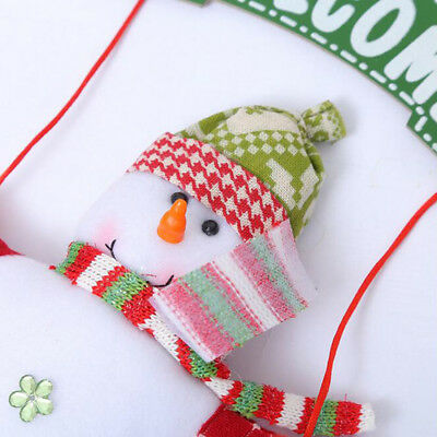 Christmas Tree Decoration Santa Claus Snowman Ornament Door Home Xmas Gift Decor