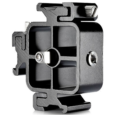 Neweer All-metal Three-Cold Shoe Mount Adapter for Flash Holder Bracket