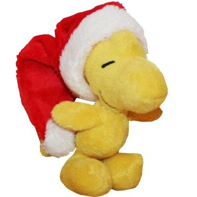 The Peanuts - Woodstock Father Christmas Hat - plush stuffed figure,  small 10 c