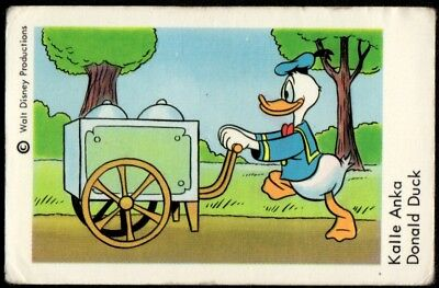 1967 Vintage Swedish Unnumbered Disney Set Gum Card Donald Duck