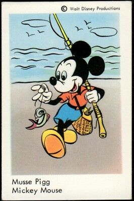 1967 Vintage Swedish Unnumbered Disney Set Gum Card Mickey Mouse