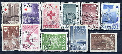 FINLAND 1951 complete year issues used.