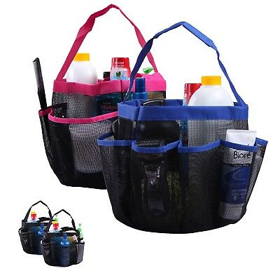 Shower Caddy Mesh Bag College Dorm Bathroom Gym Tote Organizer (2 Pack)
