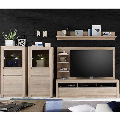 neuwertige tv wand wohnwand eur 44 50 picclick de. Black Bedroom Furniture Sets. Home Design Ideas