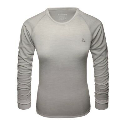 Schöffel Merino Sport Shirt 1/1 Arm W light grey Langarmshirt Damenshirt
