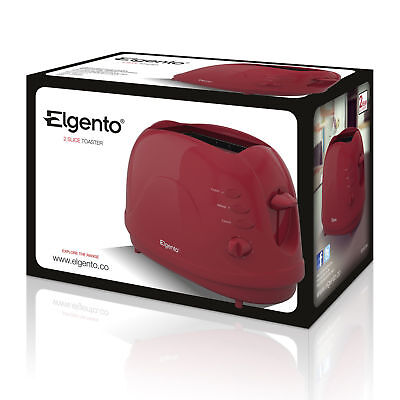 Elgento E20012R Two Slice Dome Toaster - 700w in Red -2 years guarantee