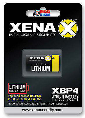 Xena XBP4 Lithium Battery For Xena Alarm Disc Locks XX14, XZZ6, All XX Series