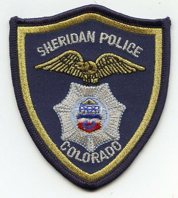 Sheridan Colorado Co Police Patch