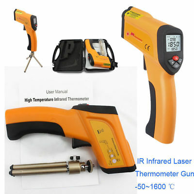 Non-contact Infrared IR Laser Thermometer Gun LCD Temperature Meter -50~+1600℃