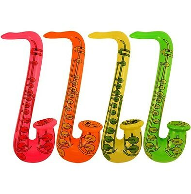 1 - 20 x INFLATABLE SAXOPHONE BLOW UP FANCY DRESS PARTY MUSICAL INSTRUMENT 55 cm