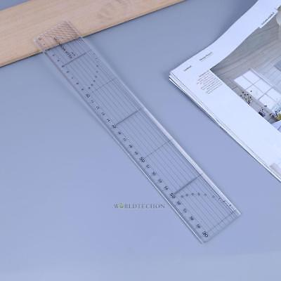 Multi-function Grading Ruler for Making Clothes Tailor Sewing Craft Tool Acrylic