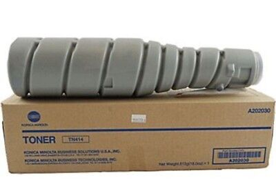 OEM Genuine Konica Minolta Black Toner TN414 A202030 SEALED, 363,423