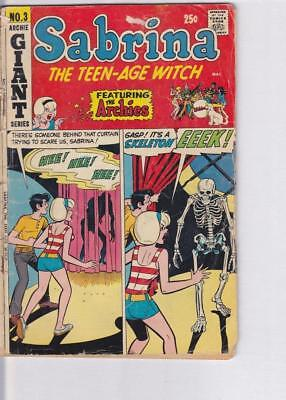 Sabrina Teen Age witch Comic No. 3 1971 ~ Archies ~ Giant Series ~ Good Used