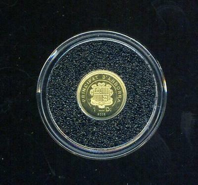 2008 Andorra One Diner Gold Coin - Saint Peter's Basilica