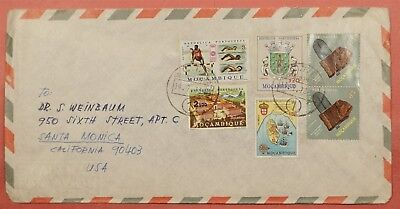 1973 Mozambique Portugal Multi Franked Airmail To Usa