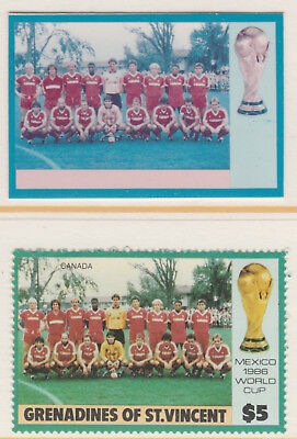 St Vincent Grenadines 5508 - 1986 WORLD CUP FOOTBALL $5 CROMALIN PROOF