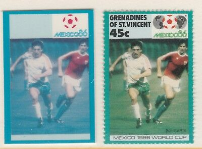 St Vincent Grenadines 5509 - 1986 WORLD CUP FOOTBALL 45c CROMALIN PROOF