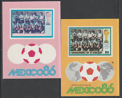 St Vincent Grenadines 5514 - 1986 WORLD CUP FOOTBALL $3 m/sheet CROMALIN PROOF