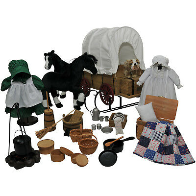 """Little House 48 Pc American Prairie Furniture, Clothes,Accessories 18"""" Girl Doll"""