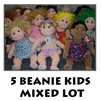 TY Beanie Kids - Mixed Lot of 5 Kids (All Different -Boy & Girl) (10 inch) MWMTs
