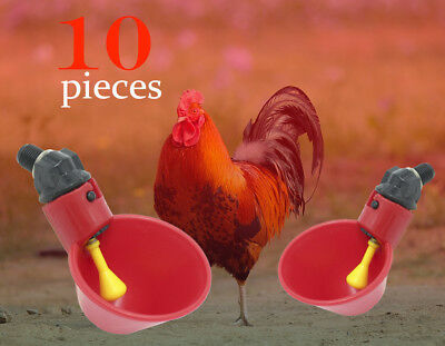 10 Pack Poultry Water Drinking Cups- Chicken, Hen - Automatic Drinker