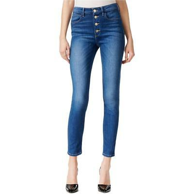 Genuine Guess With 3 Buttons Ladies Skinny Slim Fit High Waist Jeans Blue