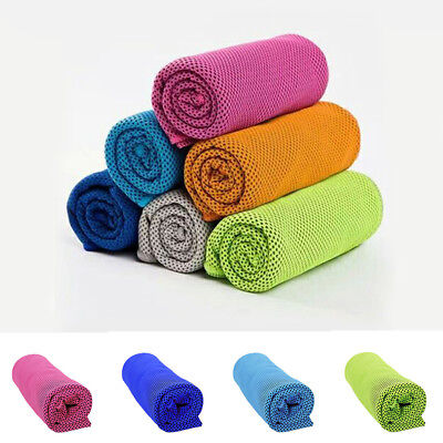 Instant Cooling Towel Ice Cold Golf Cycling Jogging Gym Sports Outdoor Towel