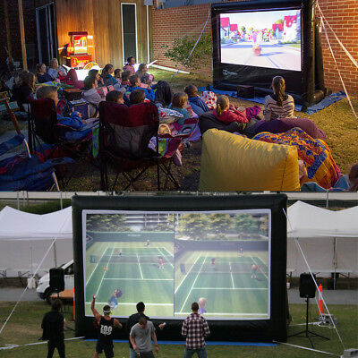 5x3m Giant Inflatable Movie Screen Outdoor Projector Projection Backyard Theatre