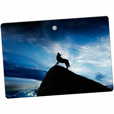 Howling Wolf At Full Moon Large Fridge Magnet