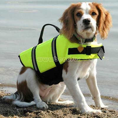 Hot Puppy Dog Safety Swimming Vest Pet Life Jacket Preserver XXS XS S M L XL XXL