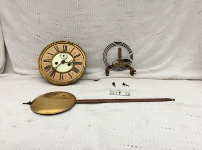 Collection Of Old Wall Clock Parts See Photos
