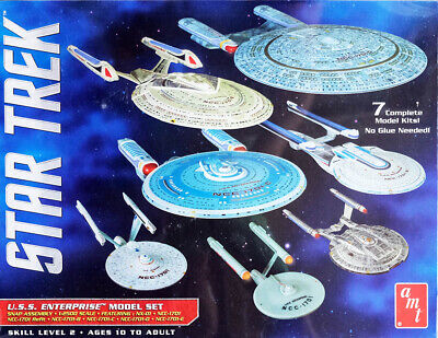 Star Trek U.S.S. Enterprise Set 7 Modelle NCC-1701 1:2500 AMT Model Kit AMT954