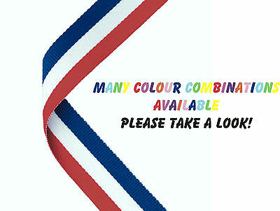 Medal Ribbons for Sports Day/Prize Giving - Packs of 10 - 48 Colour Combos