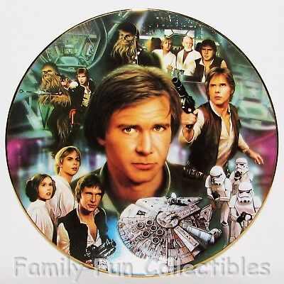 STAR WARS~1997 Hamilton Porcelain LE Plate~Han Solo~Movie Character Figure~MIB
