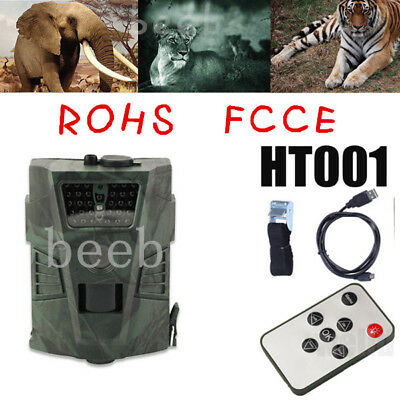 HT001 12MP Infrared Detection Angle HD Hunting Camera Outdoor Digital Trail Cam