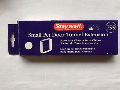 STAYWELL Original Small Pet Door Tunnel Extension, White 799, Cat Flap