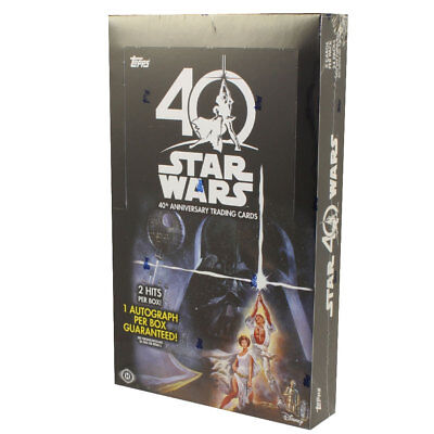 Topps Collectible Trading Cards - Star Wars 40th Anniversary -BOX (24 Packs) New