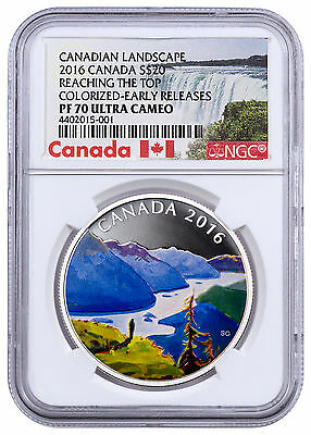 2016 Canada $20 1oz Silver Canadian Landscapes Reaching Top NGC PF70 ER SKU43089