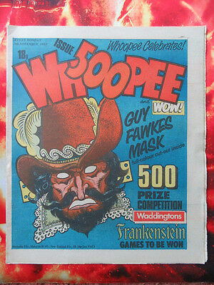 500Th Whoopee & Wow Comic 5 Nov 1983. Unsold Newsagent Stock. Unread. Nrmint
