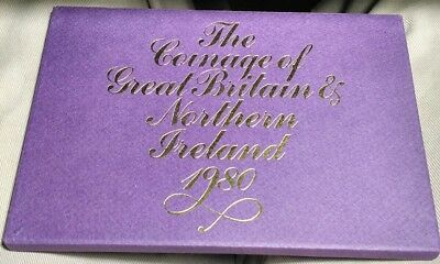 1980 Great Britain & Northern Ireland Proof Coin Set Royal Mint