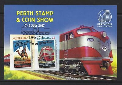 Australia 2017 Perth Coin And Stamp Show Miniature Sheet Fine Used