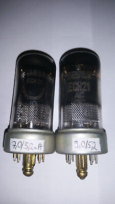 2x ECH21 Tesla tested good on Funke W19s  Röhren/ tubes NrC134
