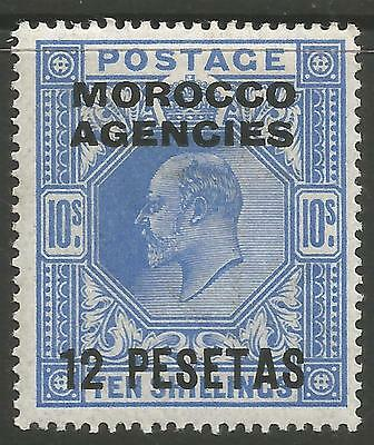 STAMPS-COMMONWEALTH-MOROCCO AGENCIES. 1907. 12p on 10 Ultramarine. SG: 123