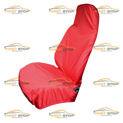 Peugeot Expert Hdi Single Heavy Duty Red Waterproof Van Seat Cover