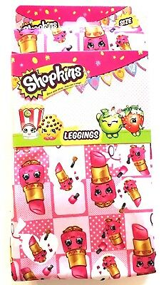 Shopkins Lipstick Pink Leggings Girls Size 8
