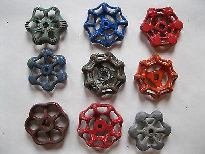 Vintage Valve Handles Steampunk Industrial Lot of  9   B 6