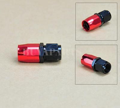2 pcs Black Red AN6 -6AN Straight Swivel Oil/ Fuel/Gas Hose AN Fitting Adaptor