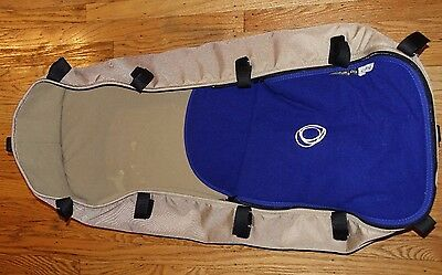 BUGABOO Cameleon Bassinet Tan Canvas Blue apron Carrycot baby newborn