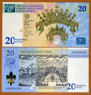 Poland 20 Zlotych, 2017 P-New Folder, UNC > Commemorative
