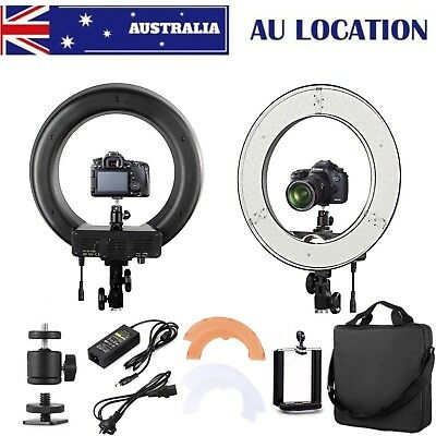 "AU ES180 14"" 36cm 5500K Dimmable Diva LED Ring Light Diffuser for Make Up Studio"